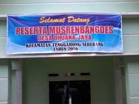 penyambutan peserta musdes
